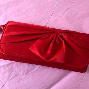 Charming Charlie Red Satin Wristlet
